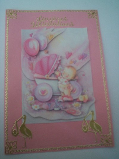 cartes bébé : sinceres felicitations n°3 (DISPONIBLE)