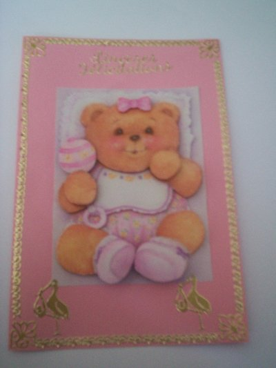 cartes bébé: sinceres felicitations n°4 ( VENDU)