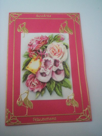 cartes bébé : sinceres felicitations n°5 (DISPONIBLE)