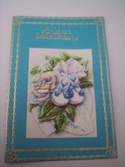 cartes bébé : sinceres felicitations n°8 (DISPONIBLE)