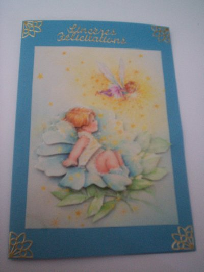 carte bébé : sinceres felicitations n°10 (DISPONIBLE)