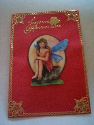 carte anniversaire fée n°13 (DISPONIBLE)