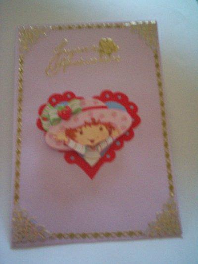 carte anniversaire charlotte aux fraises n°16 (DISPONIBLE)