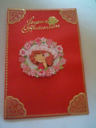 carte anniversaire charlotte aux fraisies n°17 (DISPONIBLE)
