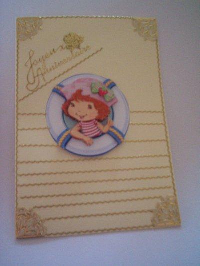 carte anniversaire charlotte aux fraises n°21 (DISPONIBLE)
