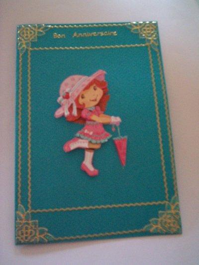 carte anniversaire charlotte aux fraises n°31 (DISPONIBLE)