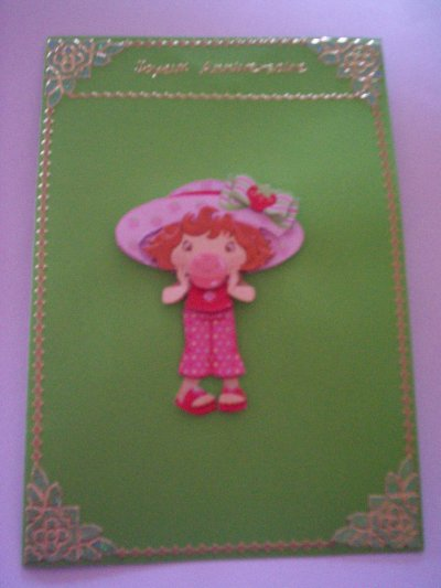 carte anniversaire charlotte aux fraises n°29 (DISPONIBLE)