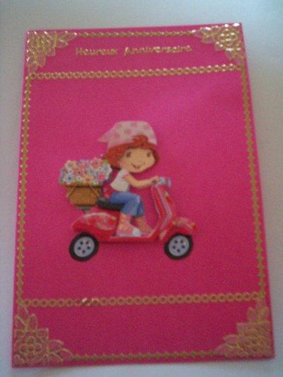 carte anniversaire charlotte aux fraises n°28 (DISPONIBLE)