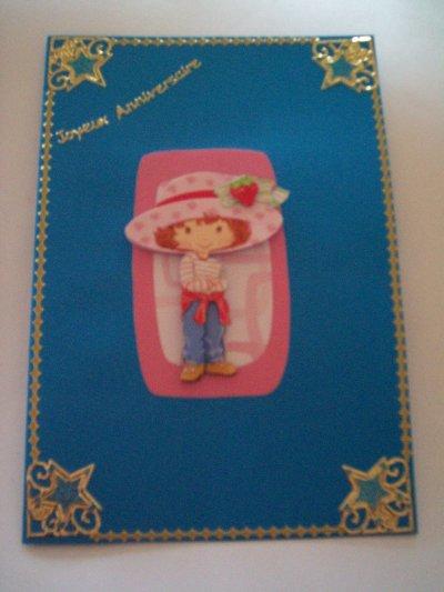 carte anniversaire charlotte aux fraises n°27 (DISPONIBLE)