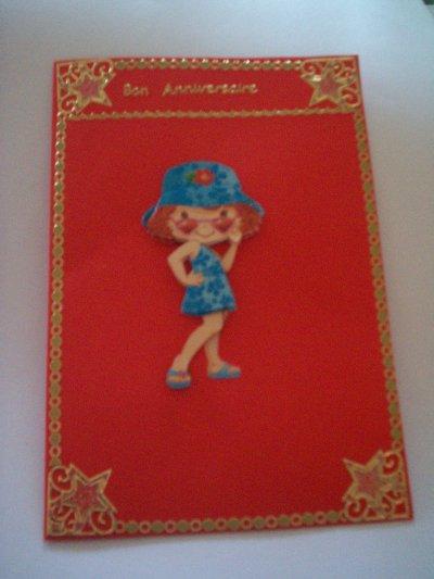 carte anniversaire charlotte aux fraises n°26 (DISPONIBLE)