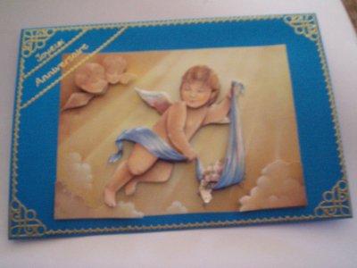 carte anniversaire ange n°3 (VENDU)