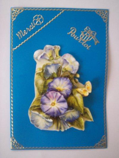 carte remerciement fleurs n°2 (DISPONIBLE)