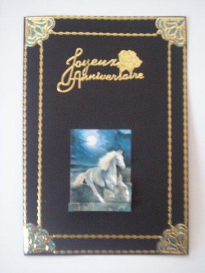 carte anniversaire cheval n°14 (DISPONIBLE)