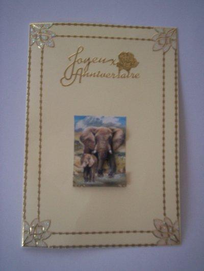 carte anniversaire elephant n°3 (DISPONIBLE)