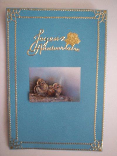 carte anniversaire aigle n°1 (DISPONIBLE)