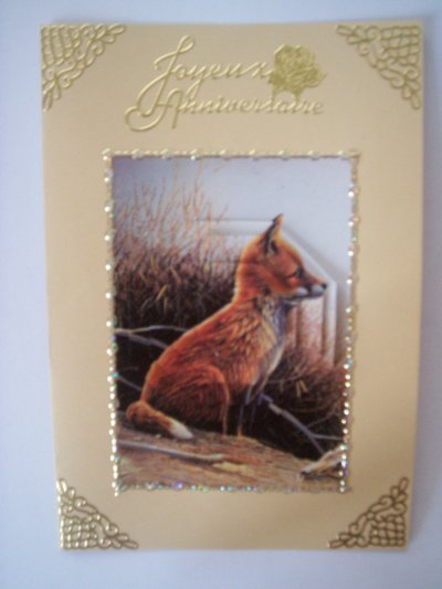 carte anniversaire renard n°4 (DISPONIBLE)