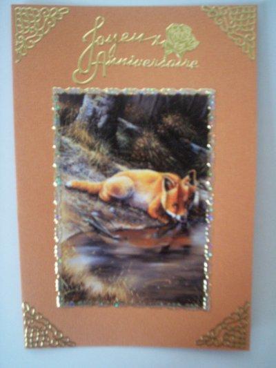 carte anniversaire renard n°5 (VENDU)