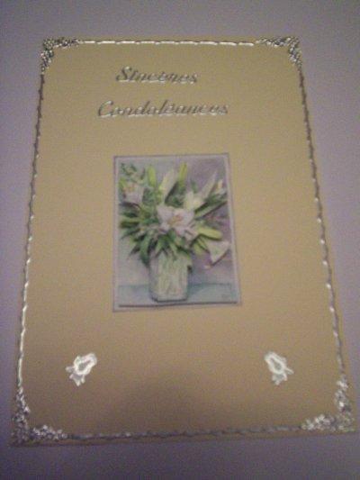 carte sincerecondoleance n°15( DISPONIBLE)