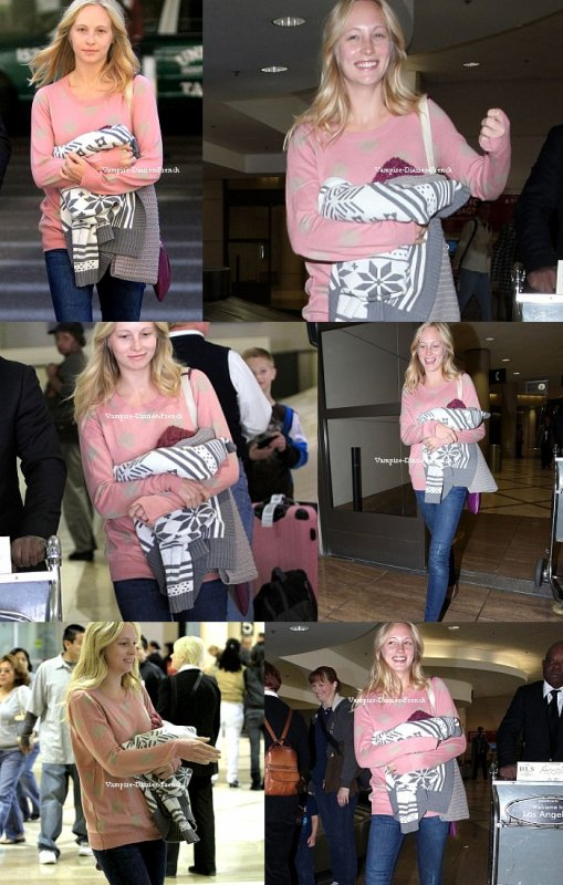Candice accola arrive a l'aeroport de Lax