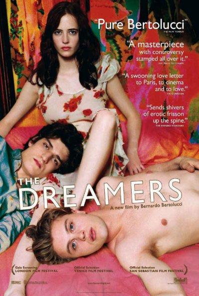III - The dreamers .By Bernardo Bertolucci. With Michael Pitt, Eva Green, Louis Garrel
