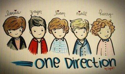 one direction <3 (louis , niall,liam harry ,zayn )