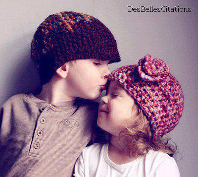 Et oui l'amour commence dès con est petit