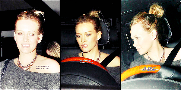 - 02/11/11: Hilary Duff est photographiée en laissant Cecconis à West Hollywood, Californie. -