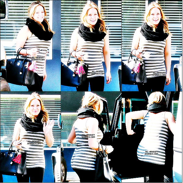 - 07/11/11: Hilary quittant son cours de yoga a Toluca Lake. -