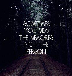 Dead memories.