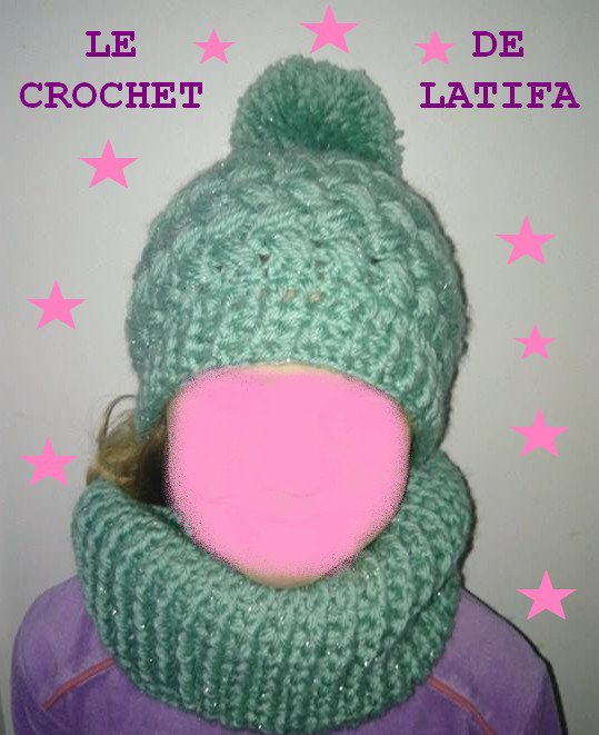 ENSSEMBLE SNOOD BONNET MITAINE