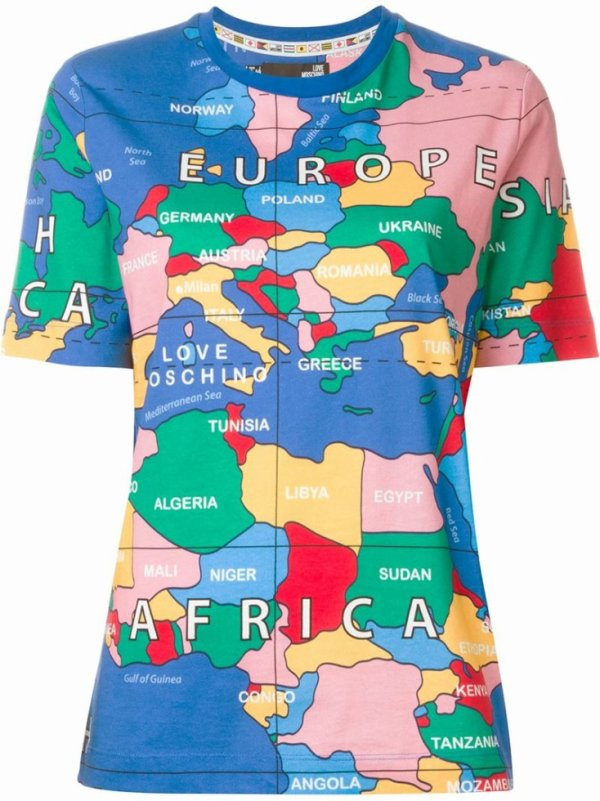 T_shirt maps geographique