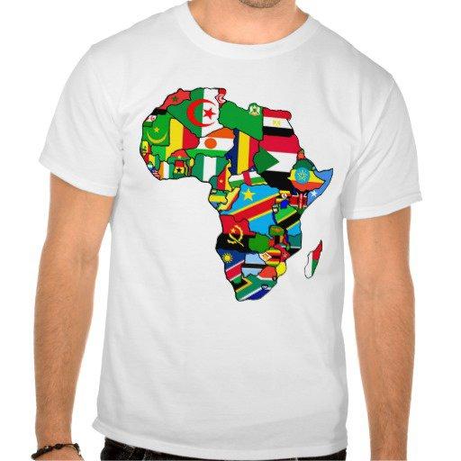 Africa maps t_shirt