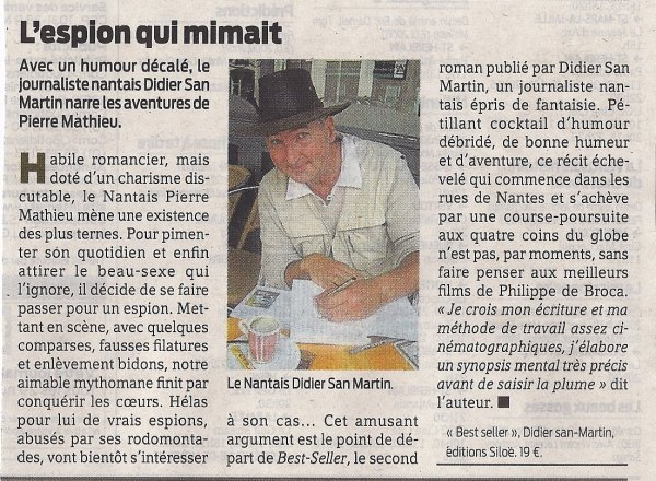 """Presse Océan : """"L'espion qui mimait"""""""
