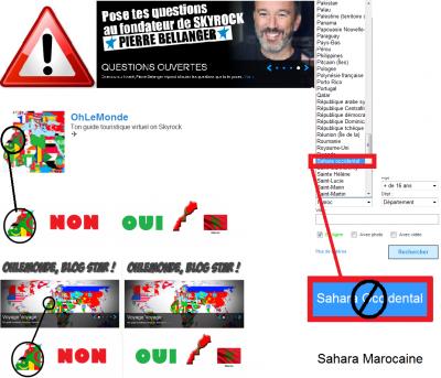 Non pour l'exclusion du Sahara Marocaine de la carte du Maroc, L'Espagne qui a occupé le «Sahara occidental marocain»