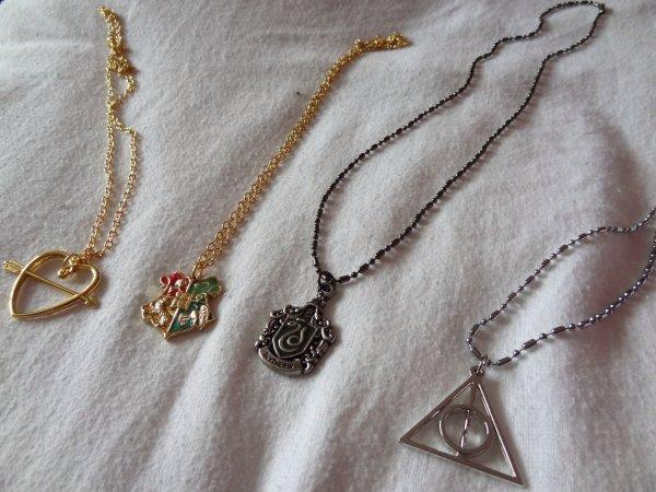 Nouvel achat : pendentifs Harry Potter