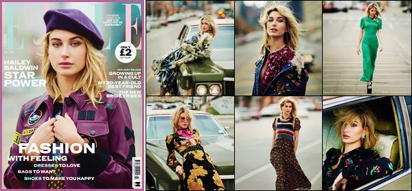 - Hailey Baldwin fait la couverture du magazine « ELLE UK » pour juillet 2017 !-