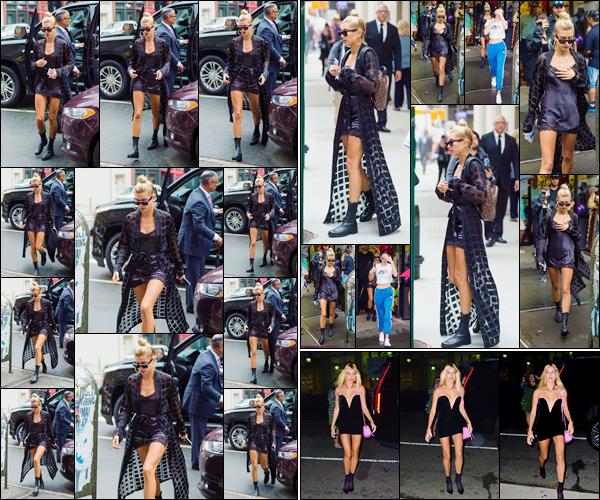 - '-02/08/17-'''✈''Hailey Baldwin arrivait à la boutique « Balloon Saloon » avec Kendall Jenner, à New York City ! Une soirée d'anniversaire ? Hailey, Kendall et Bella ont été vues en quittant le magasin de décoration. En soirée, H. arrivait au restaurant Cipriani à SoHo.-