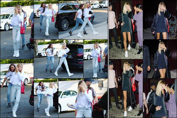 - '-06/08/17-'''✈''Hailey Baldwin et un amie se rendait au « Wiltern » pour la conférence de la Zoe Church, à LA. La belle est fidèle au rendez-vous pour une troisième journée consécutive. En soirée, Hailey Baldwin quittait le night-club Peppermint à West Hollywood...-
