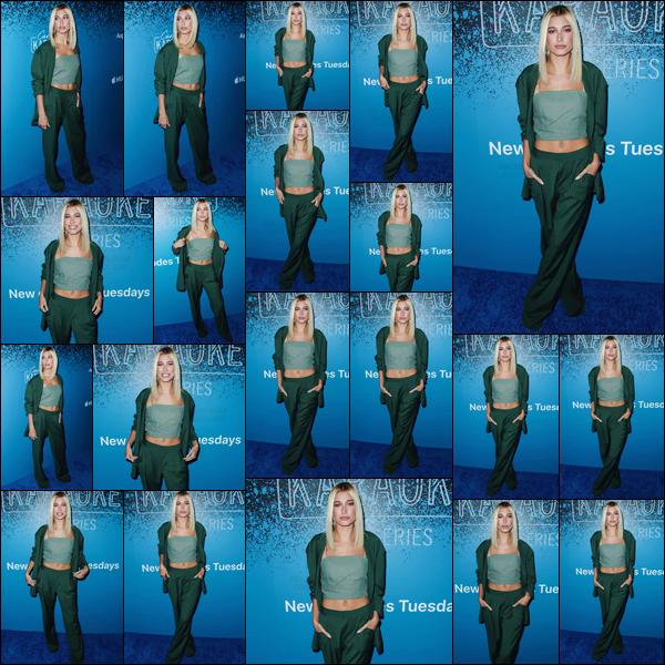 - '-07/08/17-'''✈''Hailey Baldwin était à la soirée d'Apple « Carpool Karaoke: The Series » dans West Hollywood. La soirée avait lieu au Chateau Marmont, où notre jeune H. Baldwin a été photographiée à son arrivé. C'est un coup de c½ur, pour la tenue portée. Top !-