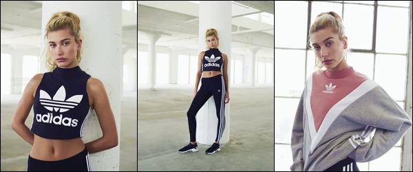 - ADIDAS ▬ Découvrez Hailey Baldwin pour la nouvelle campagne de « Adidas » pour août 2017 !-