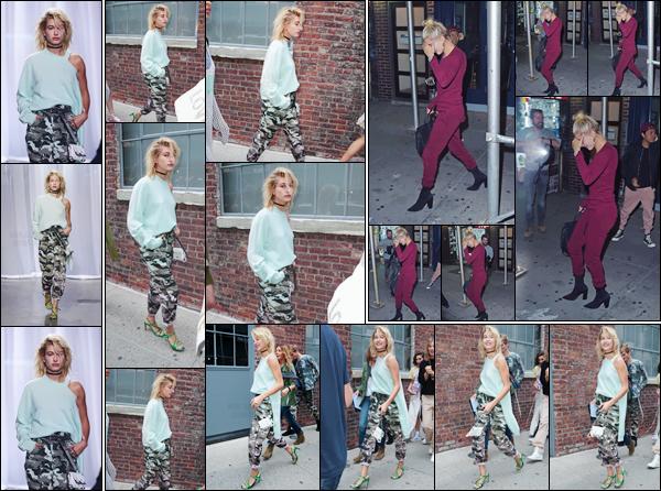 - '-11/09/17-'''✈''Hailey Baldwin défilait sur le podium pour « Zadig & Voltaire » à la Fashion-Week de New York. Hailey a été aperçue en se rendant au défilé avec Justine Skye - puis un peu plus tard en quittant le défilé. En soirée H. se rendait au restaurant Carbone.-