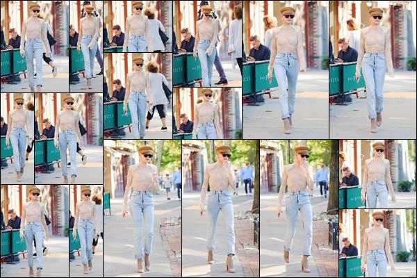 - '-08/09/17-'''✈''Hailey Baldwin a été vue en quittant le « Bar Pitti » qui se trouve dans le quartier de Manhattan. Alors que la Fashion-Week 2018 de New York bat à son plein dans la ville, notre jolie Hailey Baldwin déambule dans les rues dans ses plus belles tenues !-