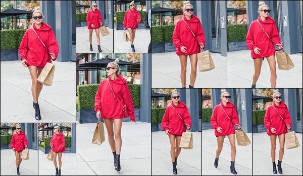 - '-12/09/17-'''✈''Hailey Baldwin a été aperçue en se dirigeant vers le « The Bowery Hotel », situé à Manhattan ! La belle blonde avait opté ce jour-là pour un hoodie large de couleur rouge, similaire à celle d'il y a quelques jours... Je lui accorde un petit top cette fois.-