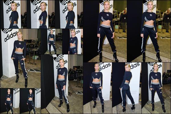 - '-15/09/17-'''✈''Hailey Baldwin était présente au lancement de « Adidas Streets EQT », se déroulant à Londres. Étant le nouveau visage de la nouvelle collection anglaise, Hailey B. était en boutique pour répondre à une série de question aux fans présents ! Gros top.-