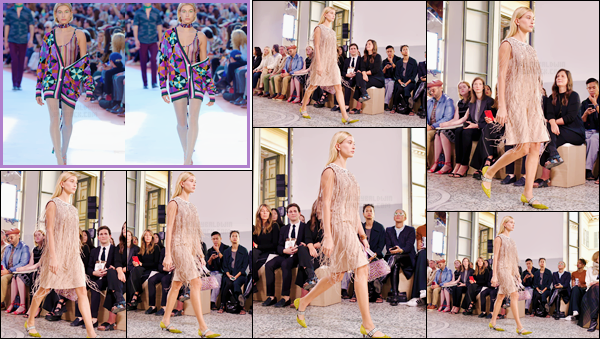 - '-23/09/17-'''✈''Hailey Baldwin défilait pour la collection « Bottega Veneta », lors de la Fashion-Week de Milan. Tout comme ses amies Bella puis Gigi Hadid ainsi que Kendall Jenner, notre Hailey a défilé pour la nouvelle collection et ainsi que pour la marque Missoni.-