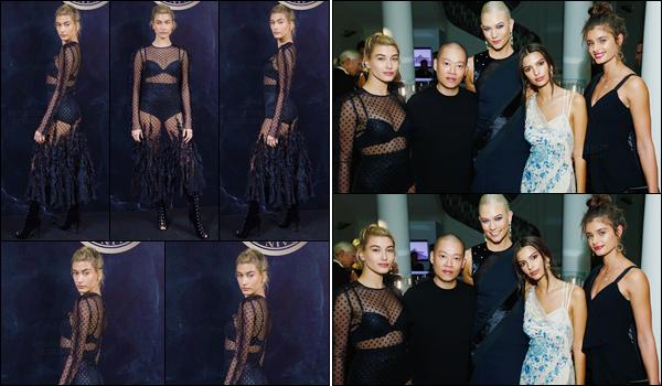- '-28/09/17-'''✈''Hailey Baldwin été présente à la soirée organisée par « L'Oréal x Balmain » à Paris, en France. Par la même occasion, comme Karlie Kloss ou Taylor Hill, Hailey était présente au dîner organisé par Jason Wu, à l'atelier Swarovski toujours à Paris. Top.-