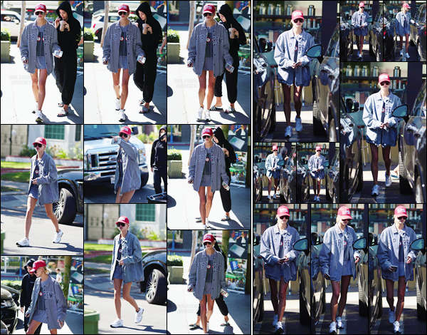 - '-06/10/17-'''✈''Hailey Baldwin a été photographiée en quittant le « Earth Bar » avec une amie à West Hollywood. Après le mois surchargé de la mode, Hailey prend du temps pour elle, en compagnie de son entourage à Los Angeles. Côté tenue, j'accorde un petit top !-