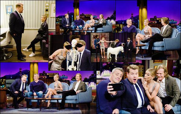 '- '- 06/11/17 -'''◊''Hailey Baldwin était sur le plateau de l'émission : « The Late Late Show with James Corden » ! Puisque Hails anime maintenant Drop the Mic en lien avec James Corden, elle était invitée à même titre que les acteurs William H. Macy et Matt LeBlanc.-