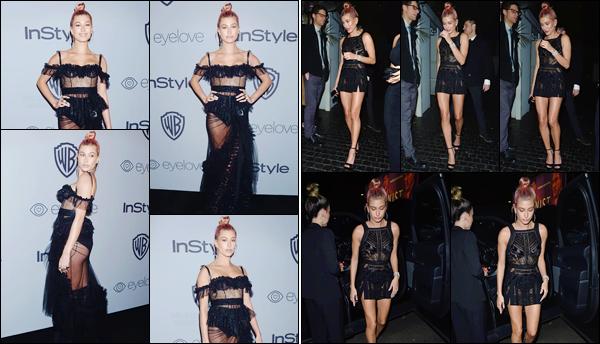 '- '-▬-07/01/18 -' : Hailey Baldwin posait pour les « InStyle 75th Annual Golden Globes Post-Party » à Beverly Hills. À l'occasion des 75ième Golden Globes, Hailey B. s'est rendue à l'après-fête ainsi qu'à la soirée organisée par The WME pour l'événement à Los Angeles !-