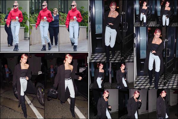 '- '-▬-08/01/18 -' : Hailey Baldwin quittait en soirée le restaurant « Craig's » qui est situé dans West Hollywood. Un peu plus tôt dans la journée, Hailey a été photographiée en quittant un café à Los Angeles. Des avis sur les deux tenues portées par la miss Baldwin ?-